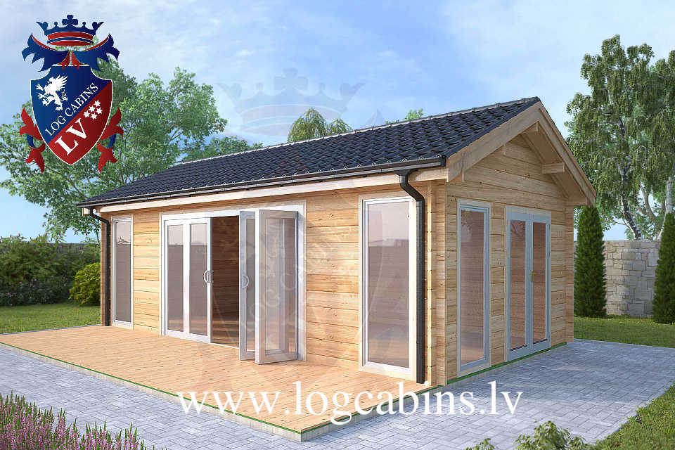 Laminated 7.5m x 4.0m log cabins  42