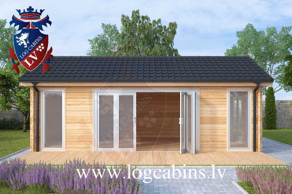 Laminated 7.5m x 4.0m log cabins  47