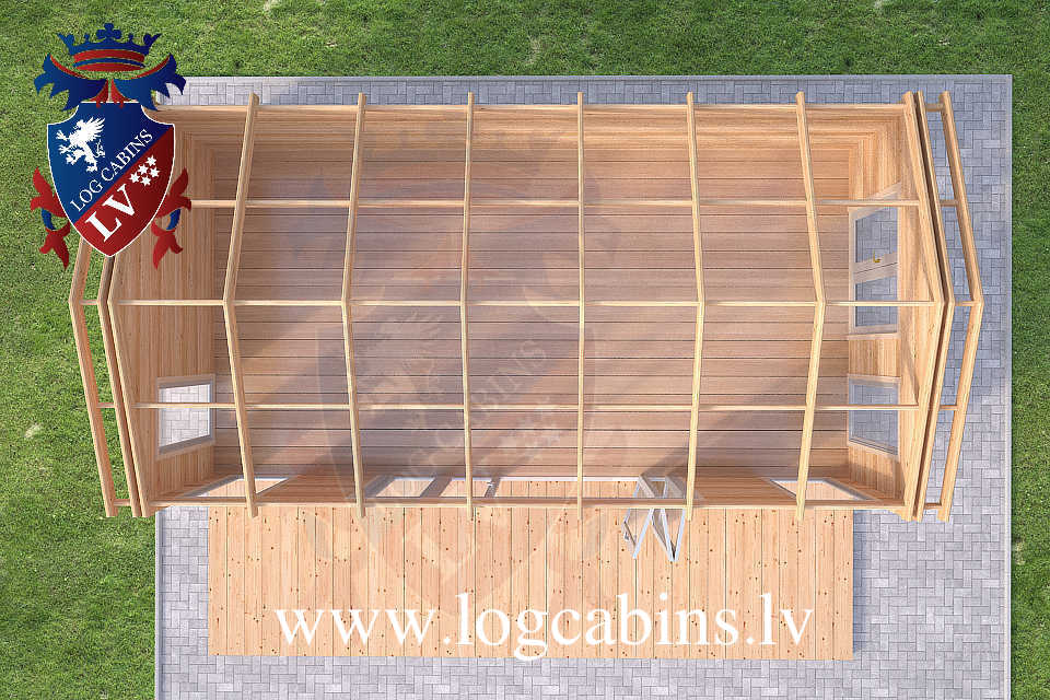 Laminated 7.5m x 4.0m log cabins  52