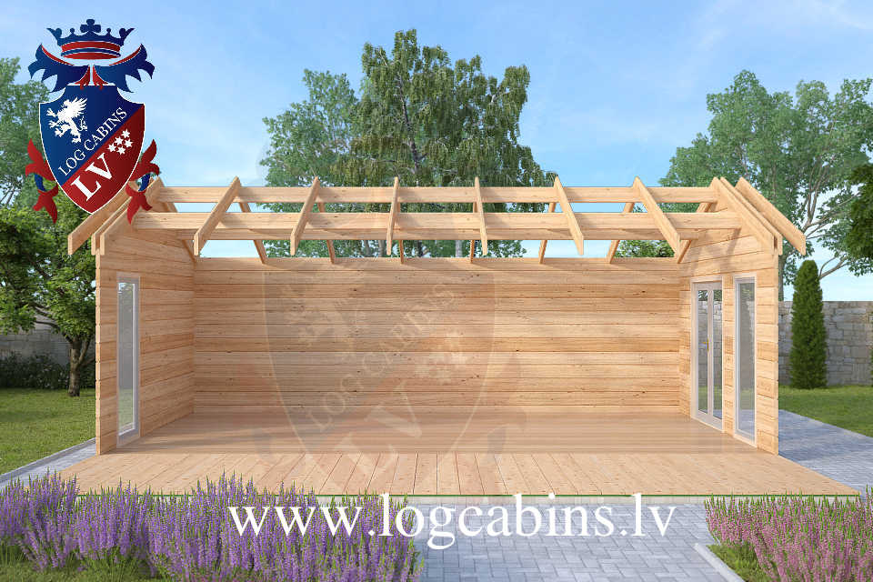Laminated 7.5m x 4.0m log cabins  57