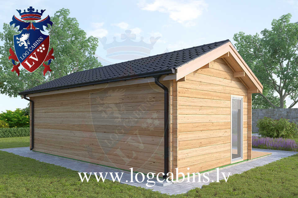 Laminated 7.5m x 4.0m log cabins  62
