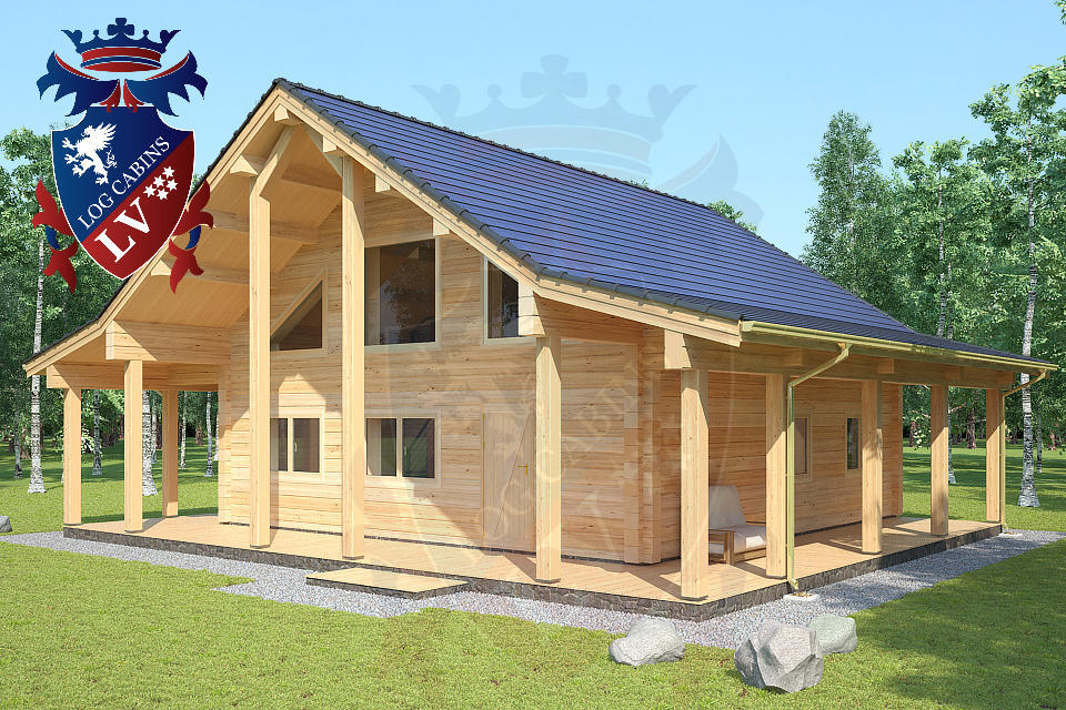 Laminated Log Cabins   02
