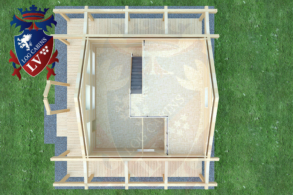 Laminated Log Cabins   06