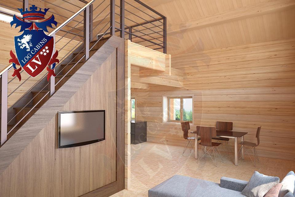 Laminated Log Cabins   07