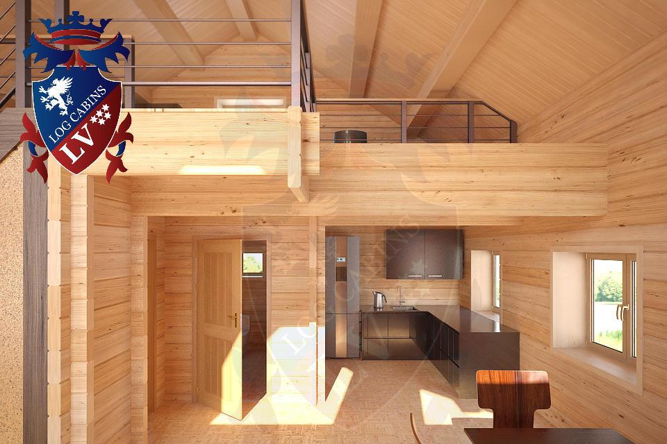Laminated Log Cabins   08