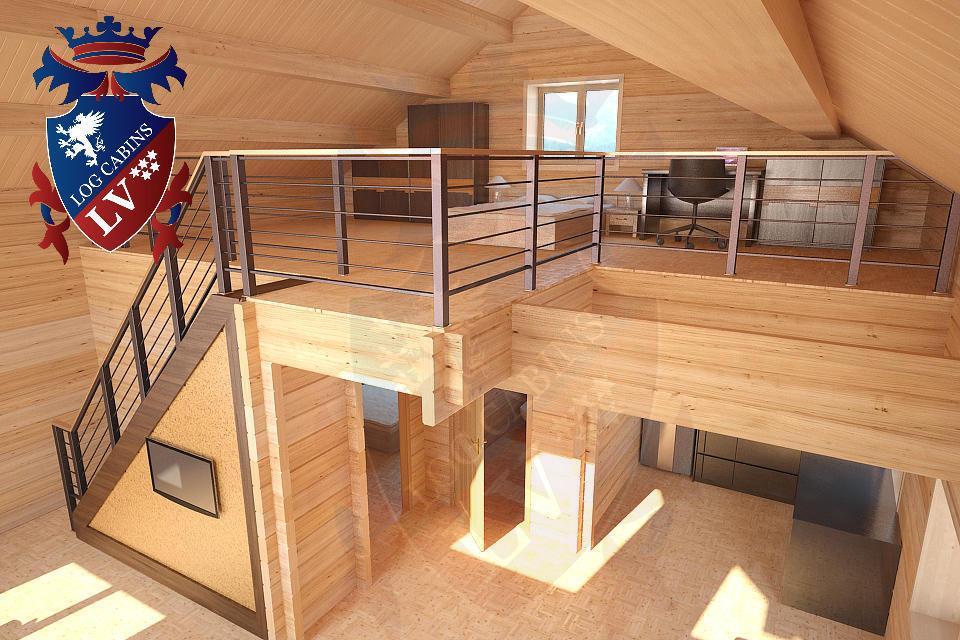Laminated Log Cabins   09