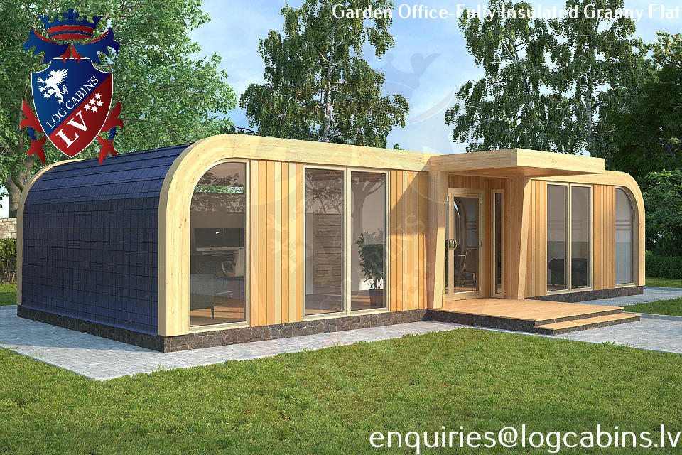 Laminated Timber Frame Garden Offices- Garden Studios  01