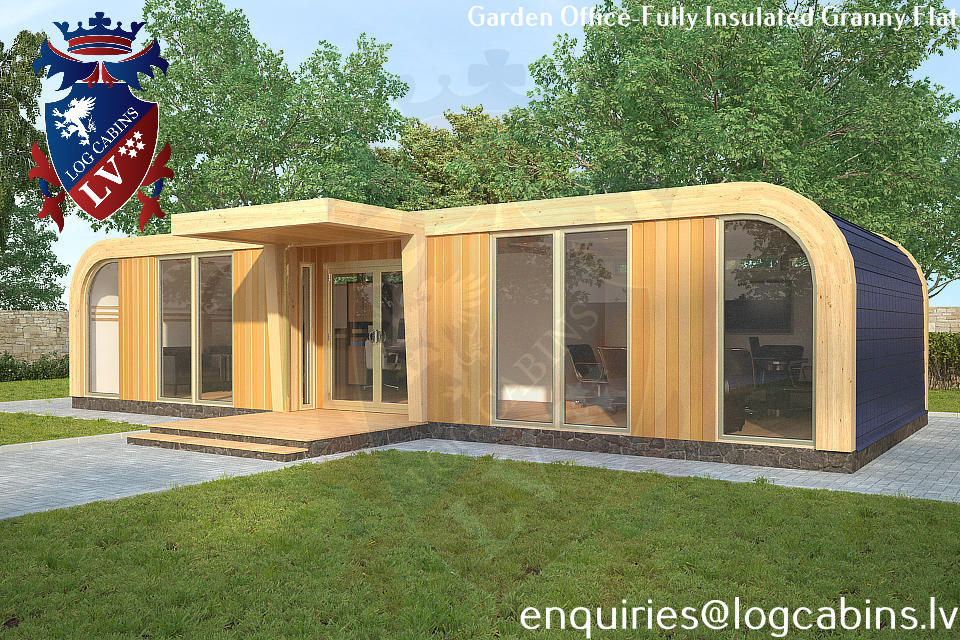 New for 2014 engineered laminated timber frame office for Cheap garden office buildings