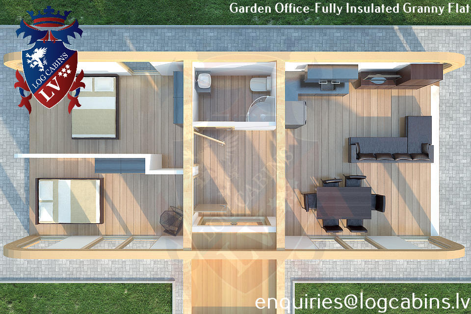 Laminated Timber Frame Garden Offices- Garden Studios  03