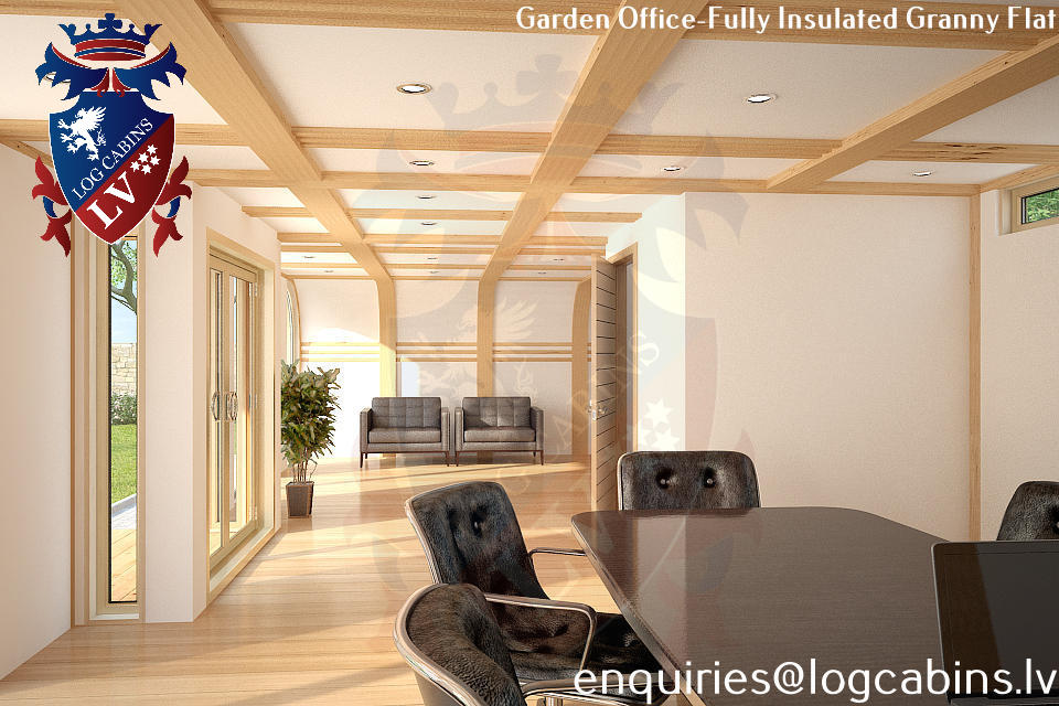 Laminated Timber Frame Garden Offices- Garden Studios  06