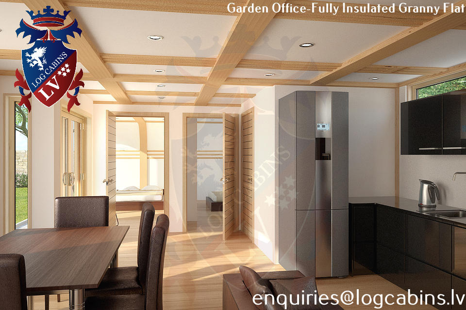 Laminated Timber Frame Garden Offices- Garden Studios  08