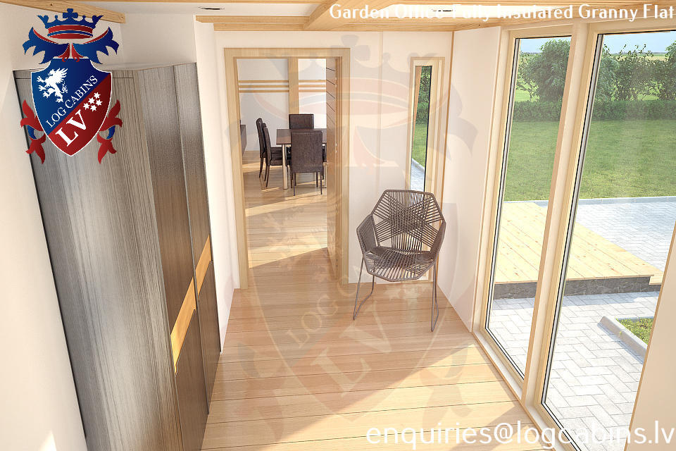 Laminated Timber Frame Garden Offices- Garden Studios  09