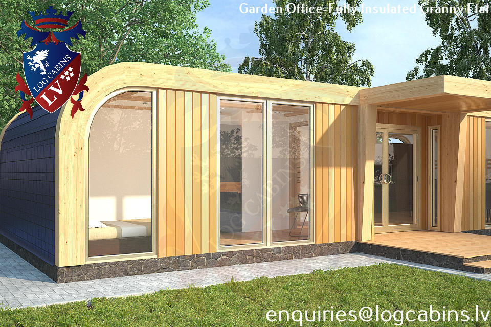 Laminated Timber Frame Garden Offices- Garden Studios  11