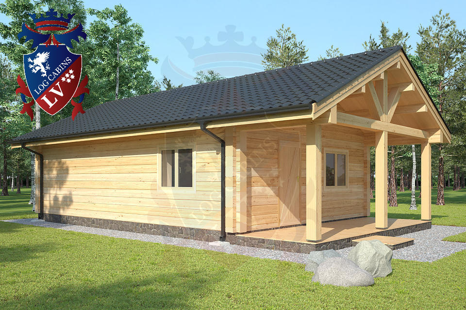 Twin Skin log cabins lv