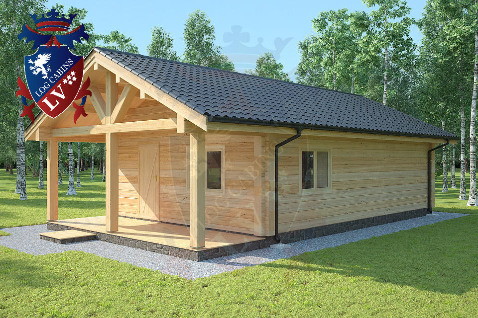 Laminated Twin Skin Log Cabins by logcabins.lv  2
