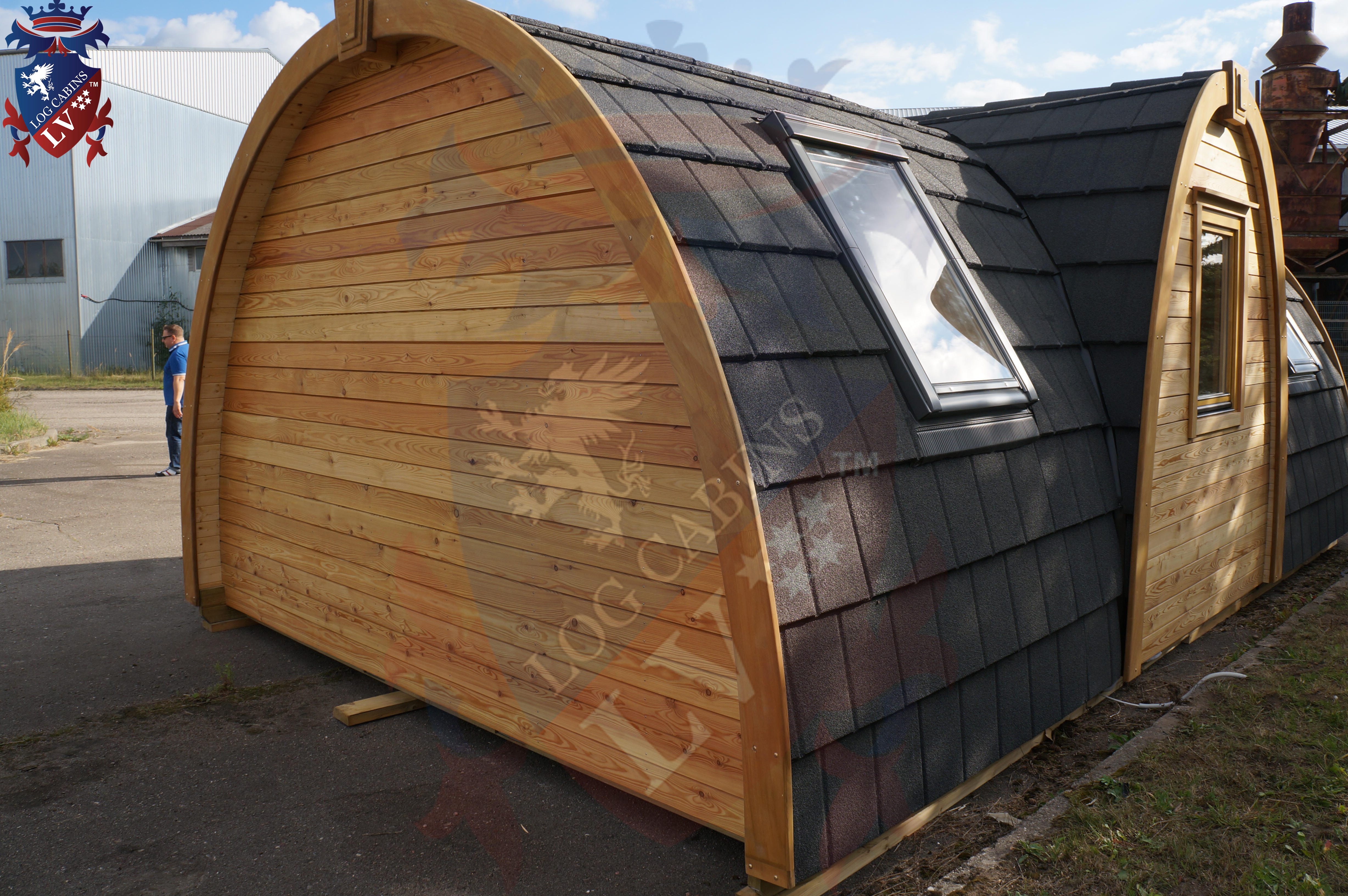 Lodge Camping Pods - Toilet- Kitchen- Bedroom and Lounge.  04