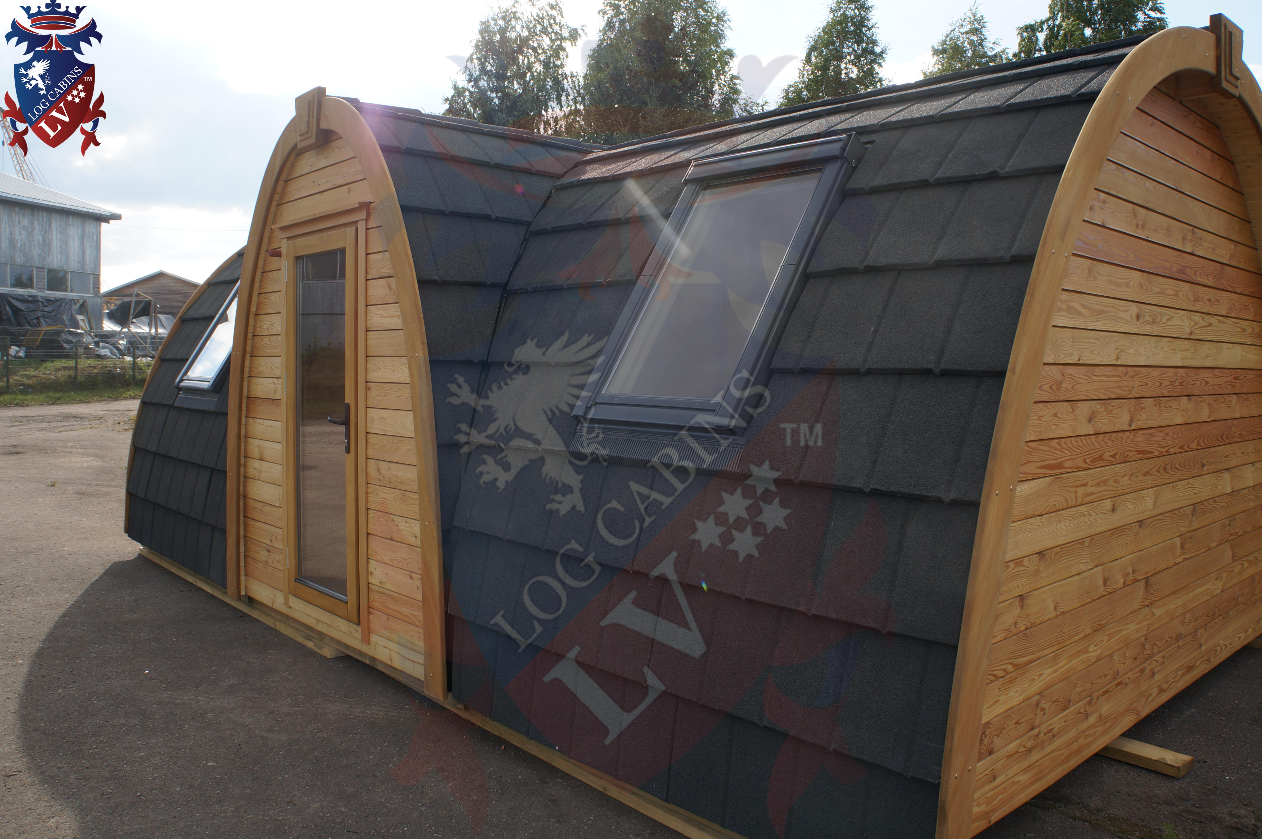 Lodge Camping Pods - Toilet- Kitchen- Bedroom and Lounge.  05