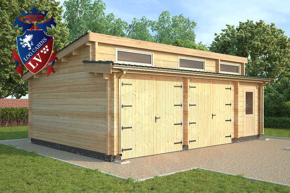 Quality 80mm glulam garages