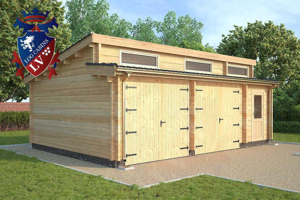 Quality 80mm glulam garages