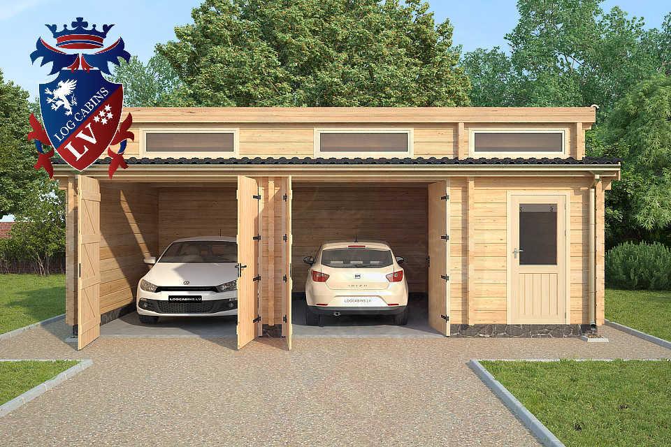 Log Cabin Glulam Garages 80mm  23