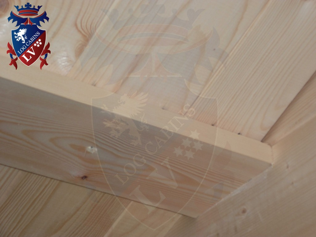 pine boards for log cabin internal roof