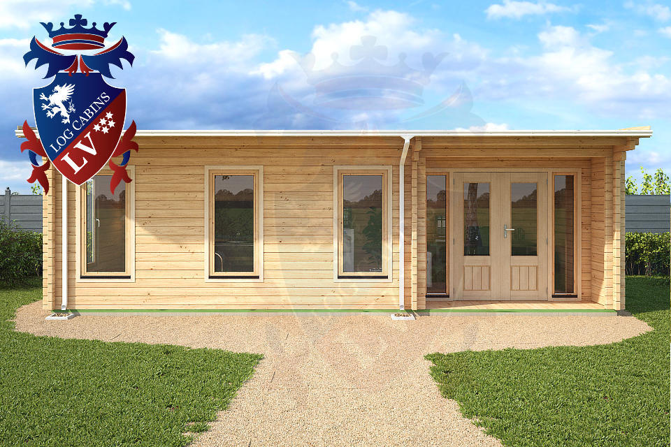 28sq m log cabin garden office from logcabins.lv