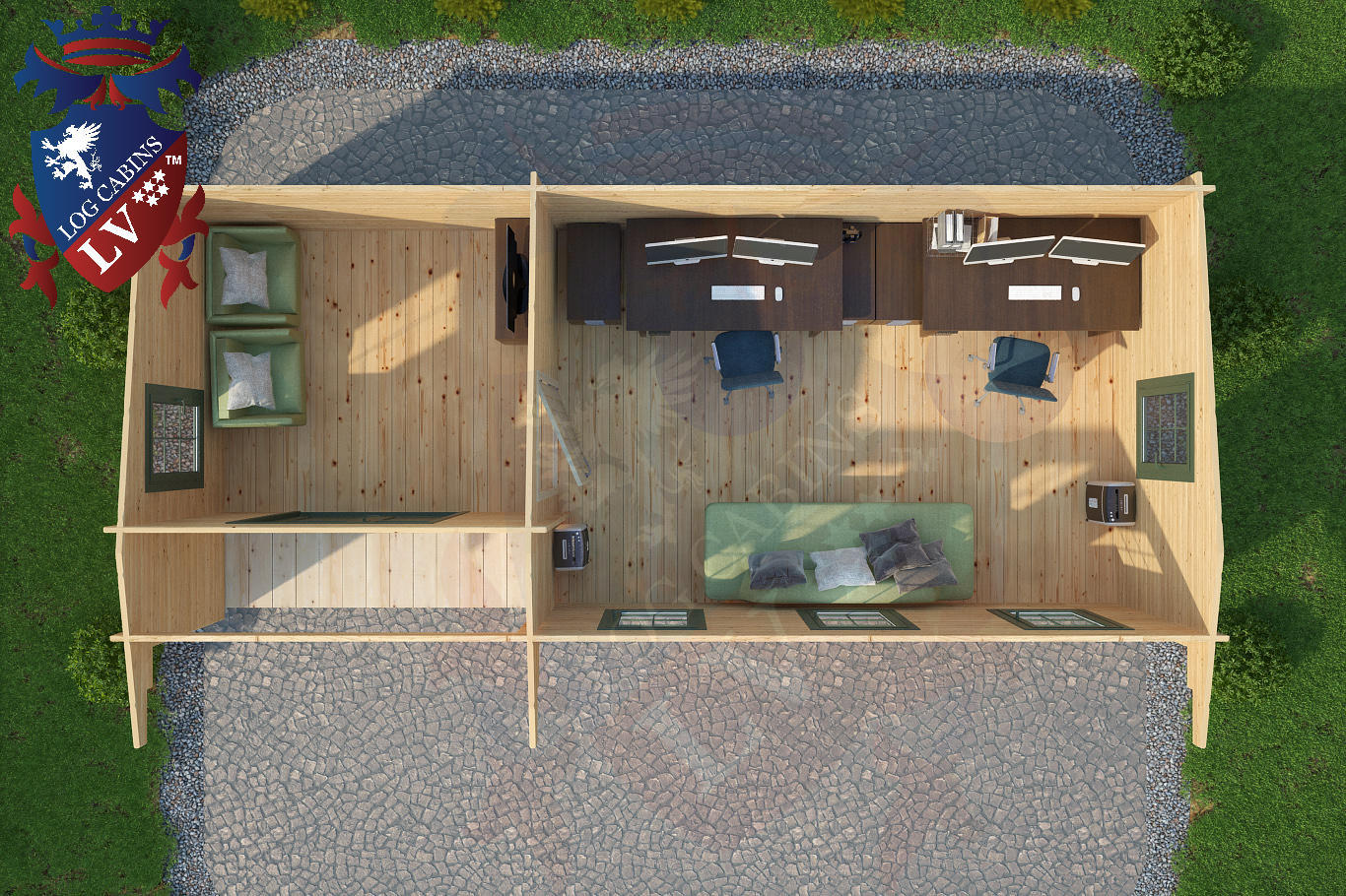 Log Cabins 8.0m x 3.5m 4