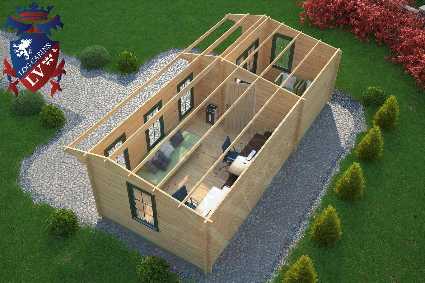 Log Cabins 8.0m x 3.5m 5