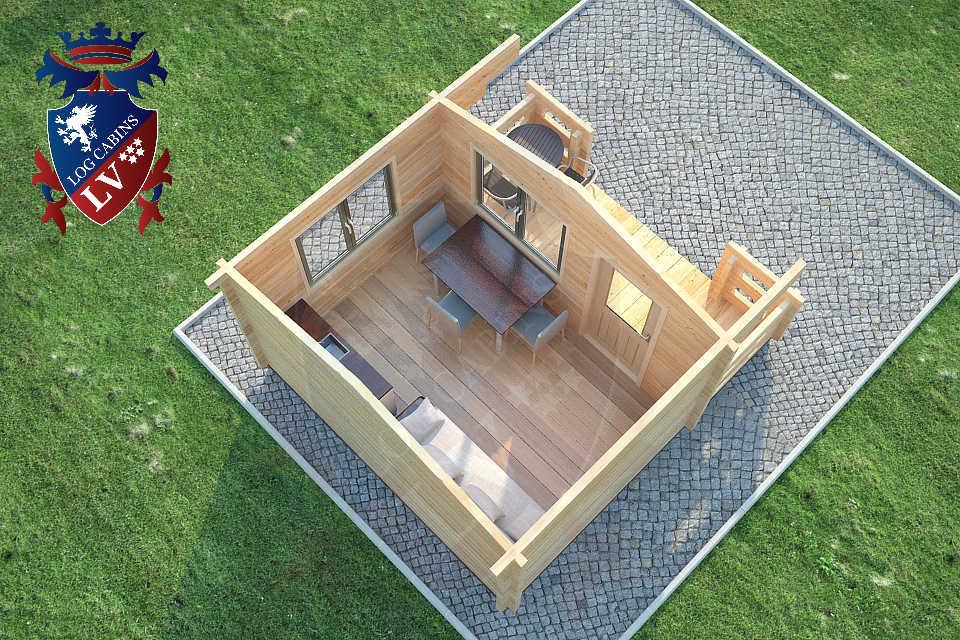 Log Cabins Glulam 80mm 22