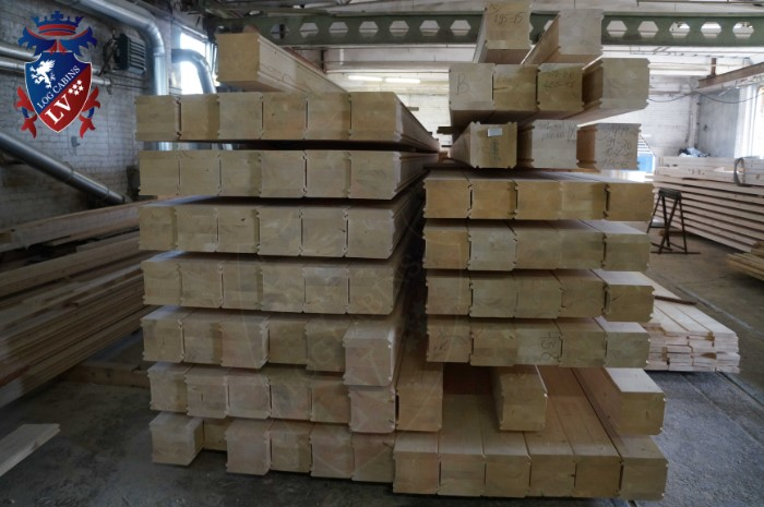 200mm laminated log cabins