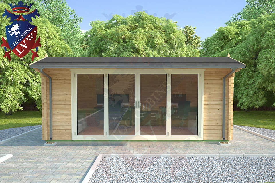 Log Cabins LV Bi Folding Doors  3