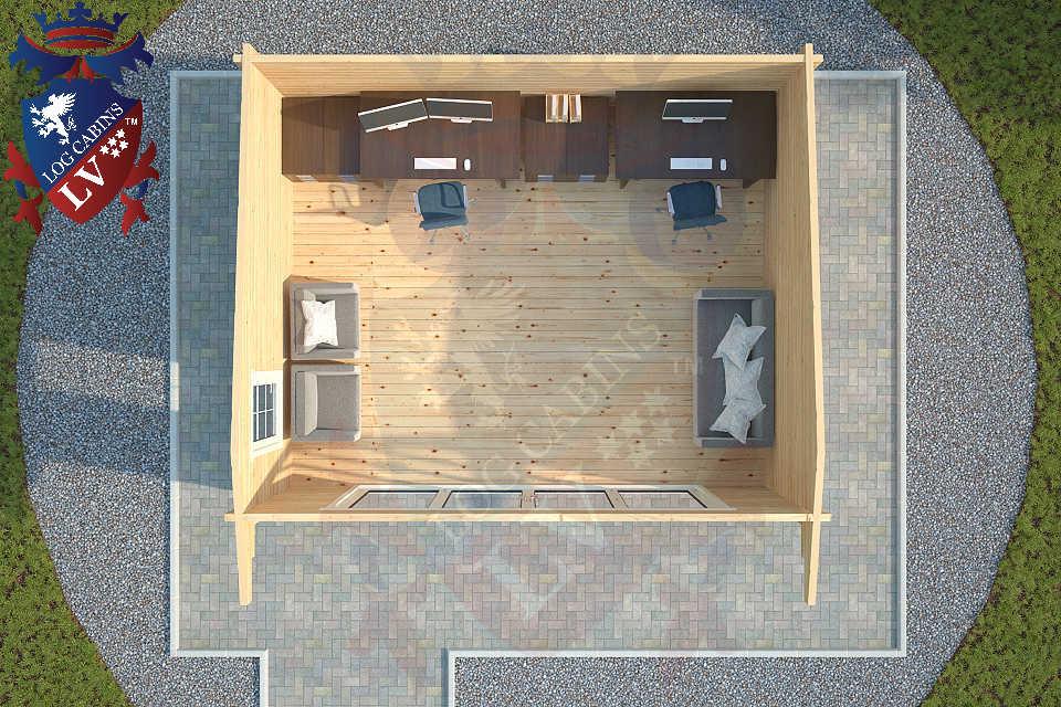 Log Cabins LV Bi Folding Doors  4