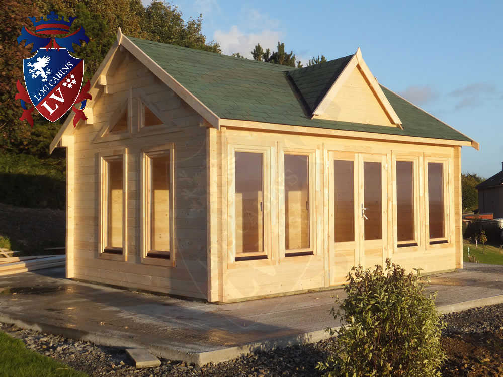 Log Cabins- Timber Buildings- Glulam Log Cabins 327