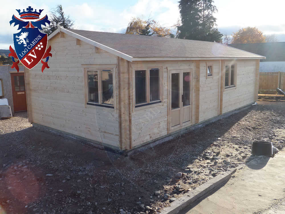 Log Cabins- Timber Buildings- Glulam Log Cabins 381