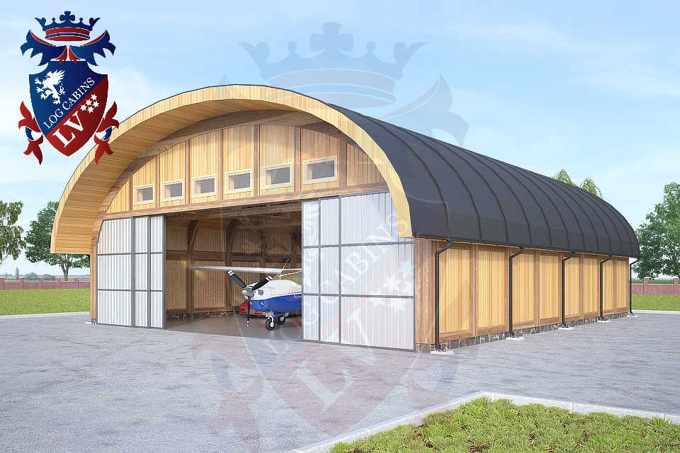Logcabins.lv Timber Frame Aircraft Hanger  019