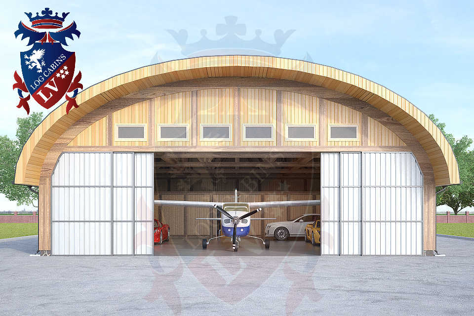 Logcabins.lv Timber Frame Aircraft Hanger  047