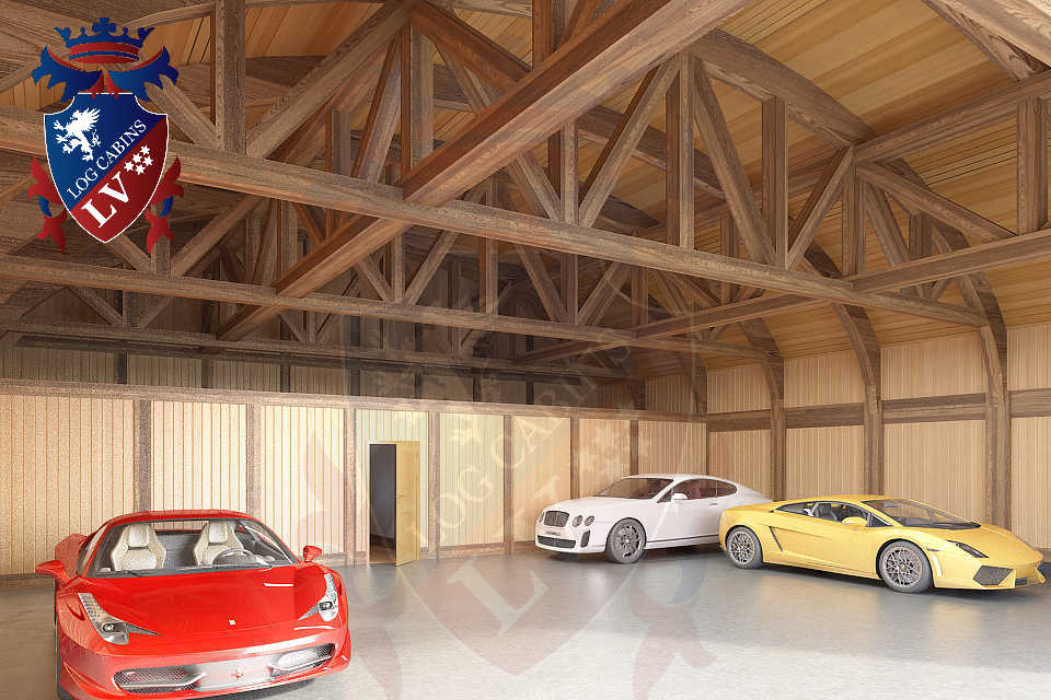 Logcabins.lv Timber Frame Aircraft Hanger  089