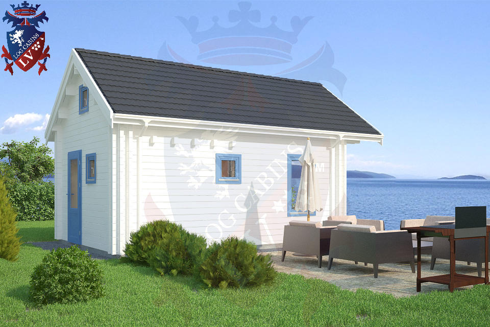 Micro Deluxe Log Cabins 4.0m x 5.7m  3