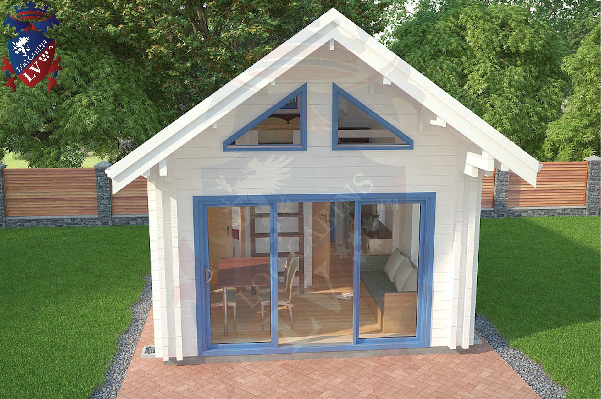 Micro Deluxe Log Cabins 4.0m x 5.7m  7