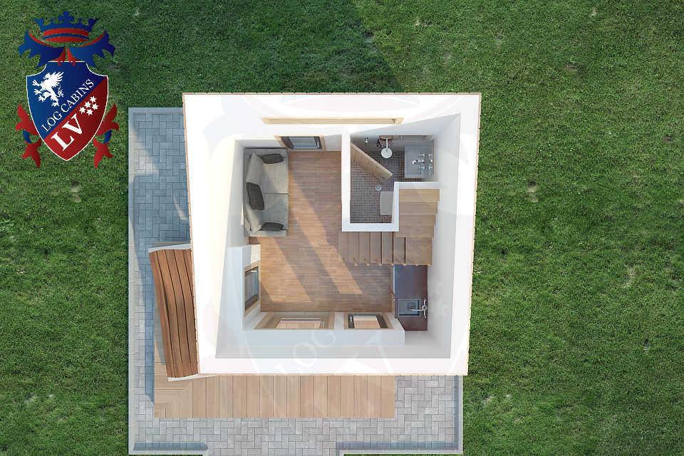 Micro House 3m x 3m   05