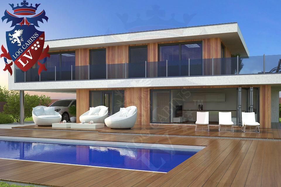 Modern timber frame homes 4 bed energy efficient log for Affordable energy efficient homes