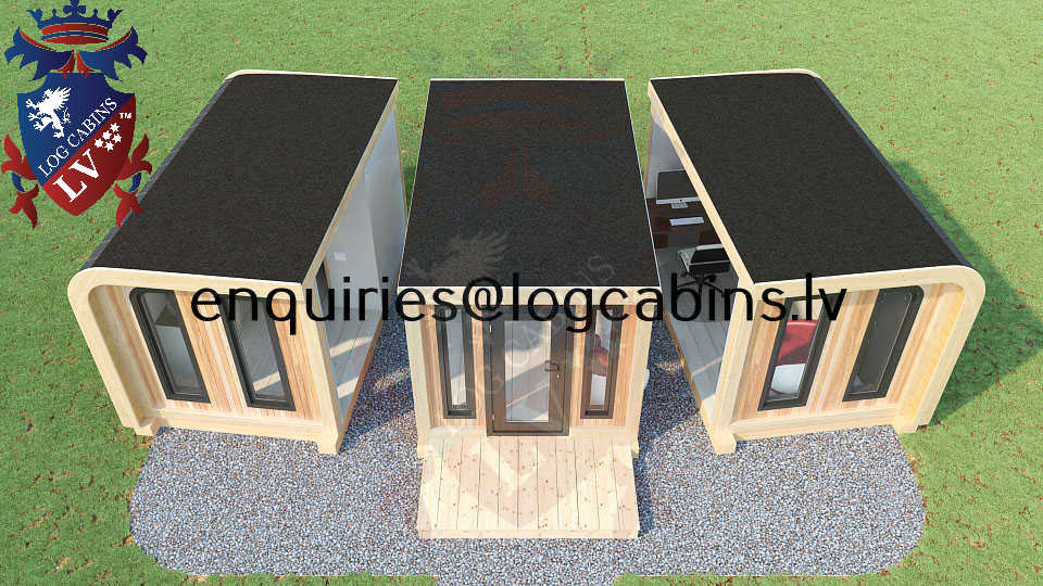 Modular Timber Frame Lodge Pod 07