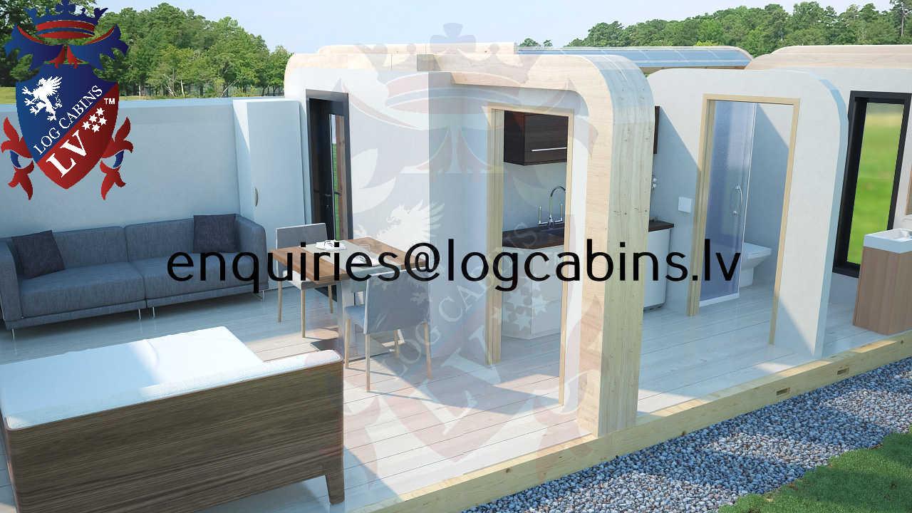 Modular Timber Frame Lodge Pod 23