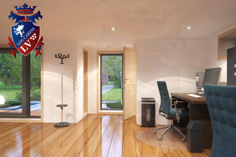 Oak garden offices log cabins lv 2 log cabins lv blog for Oak garden office