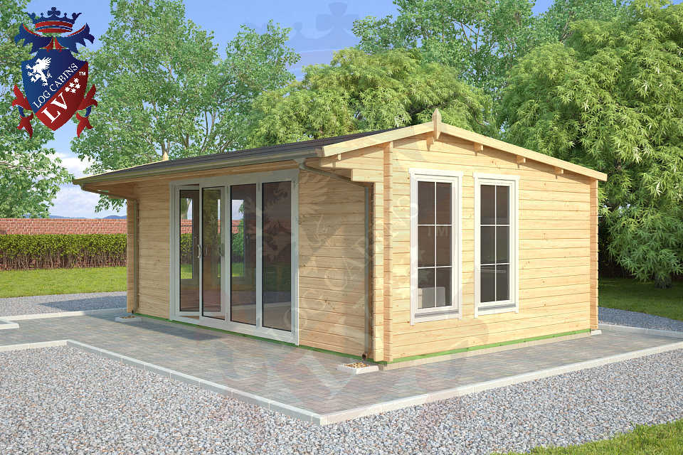 Quality Log Cabins  with Bi folding doors  96