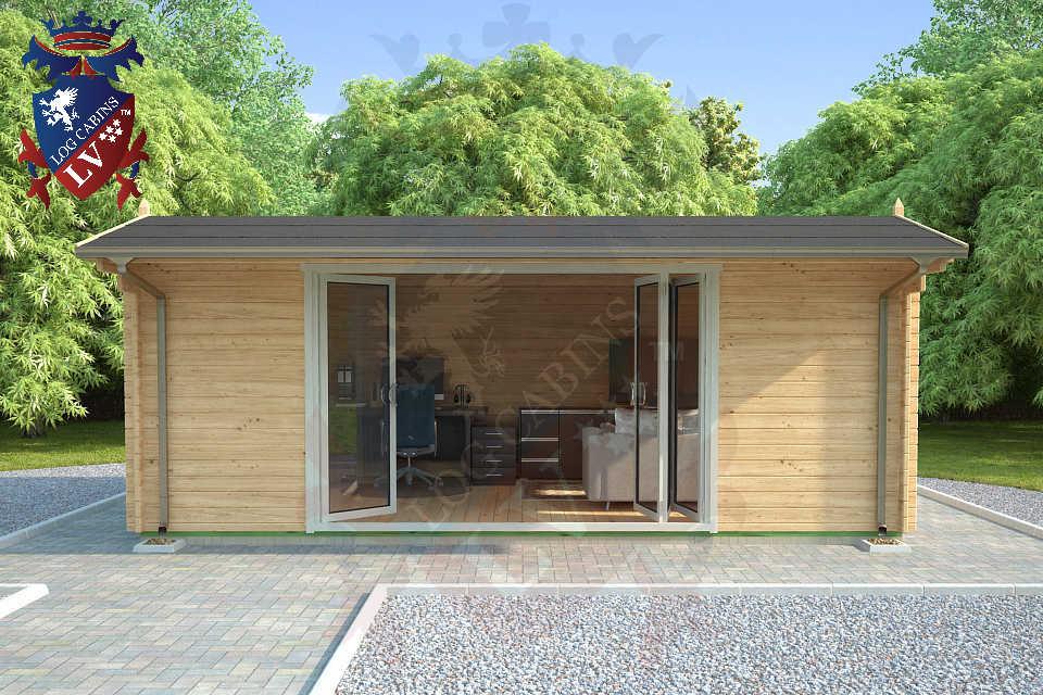 Quality Log Cabins  with Bi folding doors  97