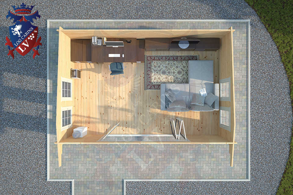 Quality Log Cabins  with Bi folding doors  98