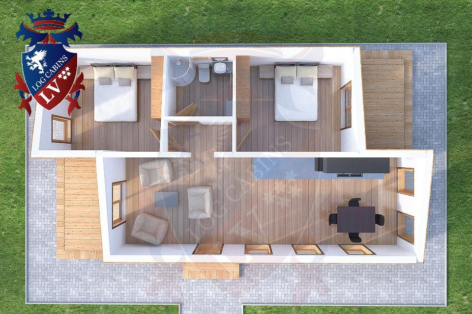 Timber Frame Residential cabin
