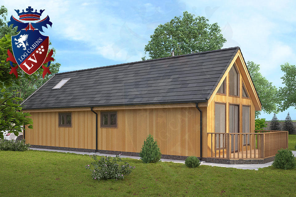 Residential timber frame insulated building log cabins for Timber frame bungalow
