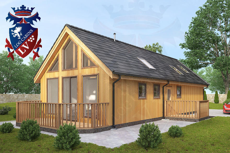 Residential Timber Frame Insulated Building Log Cabins